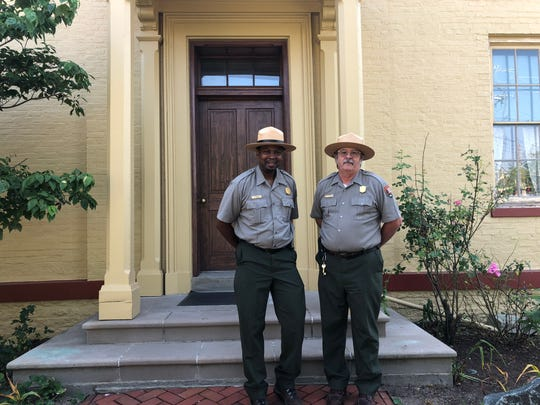 Chief Ranger Kerry Wood and Superintendent Hugh Hawthorne