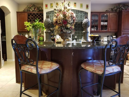 Terry says the kitchen and adjoining family room, in