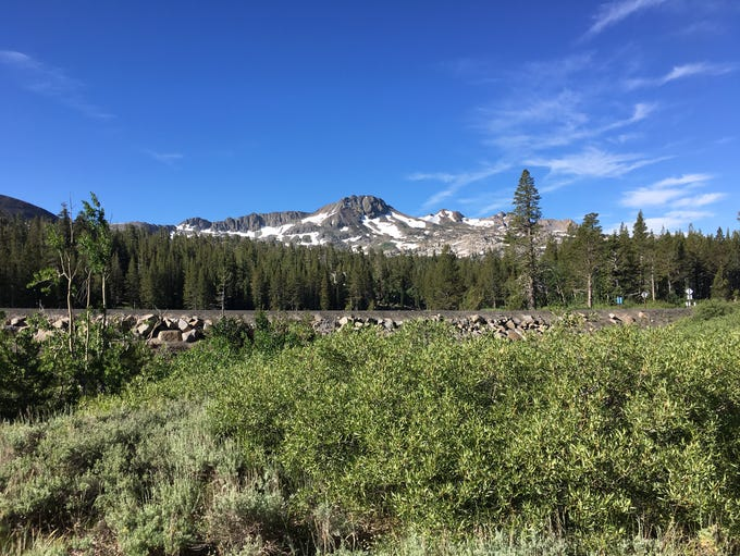 View along the path from Carson Pass to Showers Lake