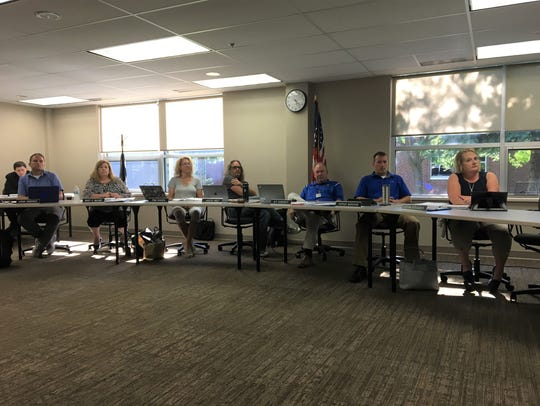 Sartell-St. Stephen school board at the July 16, 2018