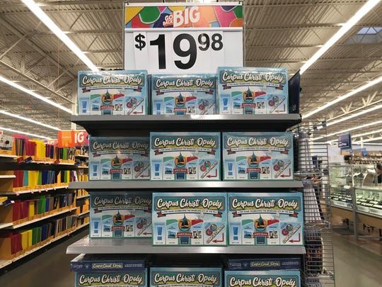 Corpus Christi-Opoly games on a shelf at the Walmart in Flour Bluff