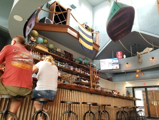 Nautical decor at Hook & Spoon adds to the island vibe.