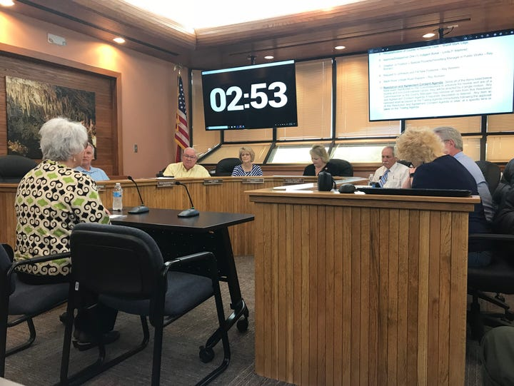 Eddy County Commissioners hear public comment by Rep.