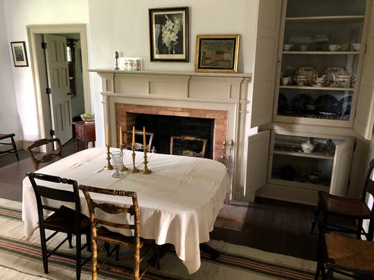 The Historic Indian Agency House, constructed near Portage in 1832, had a formal dining room. With four bedrooms and a servant's quarters, it was impressive for its time on the Wisconsin frontier and built in part to impress the Ho-Chunk people.