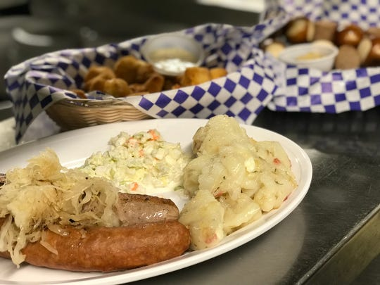 Another favorite at The Schwabenhof is the Wurst Platter, which includes a bratwurst, a Hungarian sausage, house-made kraut, German potato salad and coleslaw.