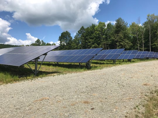 A portion of the north array of the Broome County solar