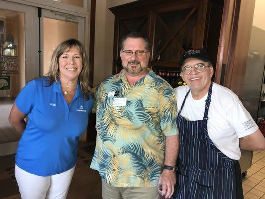 Kim Brady, left, David Moshier and The Boulevard Chef
