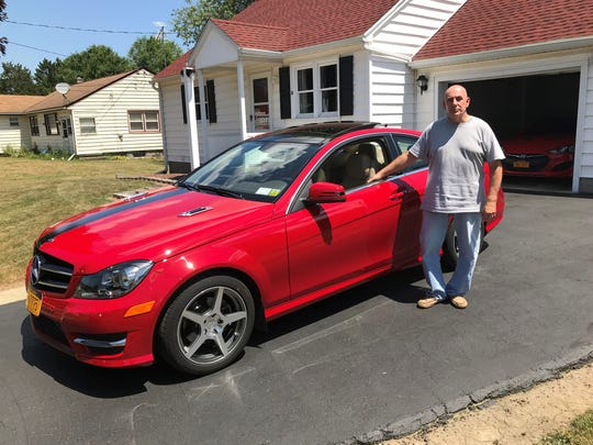 Kevin French of Horseheads shows off his  2017 Mercedes C250 coupe.