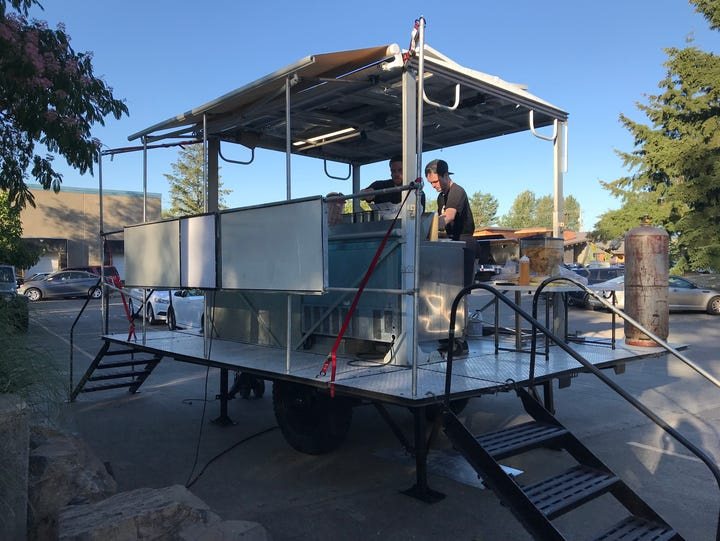 The Tasty Trailer will be cooking up food to accompany