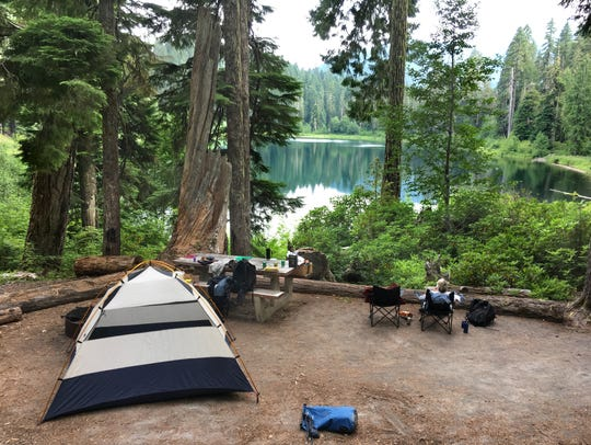 A Daly Lake wheelchair accessible campsite.