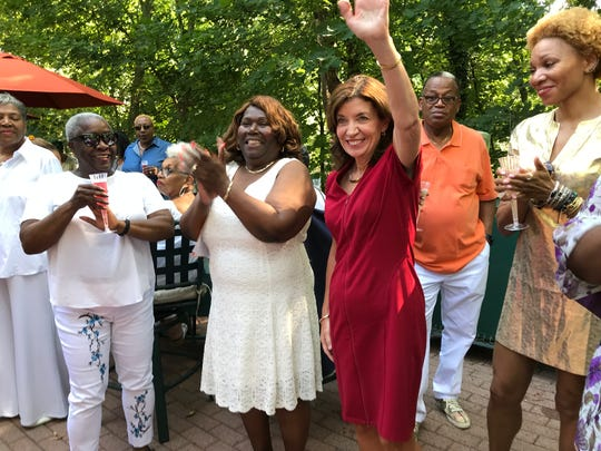 Lt. Gov. Kathy Hochul at the Mount Vernon Woman's Black Caucus Annual Fish Fry on Sunday
