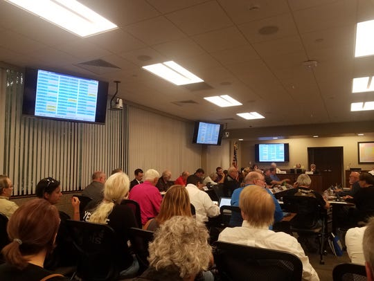 The Marathon County Board met Thursday evening, July 19. Around 45 residents showed up to both speak and discuss the possible advisory referendum on medical marijuana on November's ballot.