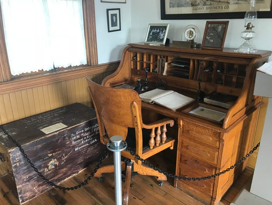 Patrick Cudahy's desk can be found at the historical