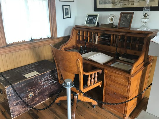 Patrick Cudahy's desk can be found at the historical society along with a number of other antiques that tell the city's history. The historical soceity may have to close in a year due to financial hardship.