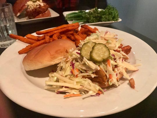 The Vegan BBQ Jackfruit Sandwich with apple-cabbage