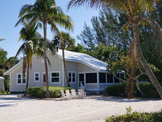 A cottage at the Island Inn in Sanibel, Fla.