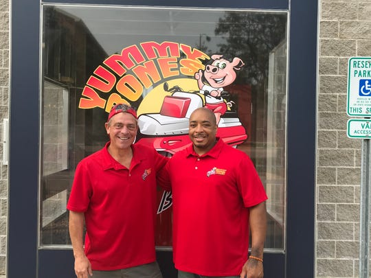 Founder and Pitmaster Robert Meredith, right, and COO