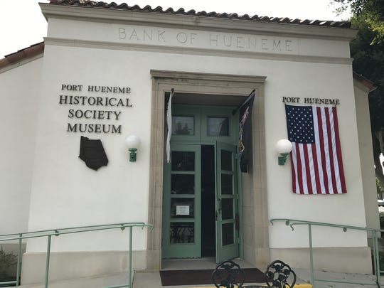 The outside view of what was once the Bank of Hueneme. It's now the Port Hueneme Historical Society Museum.