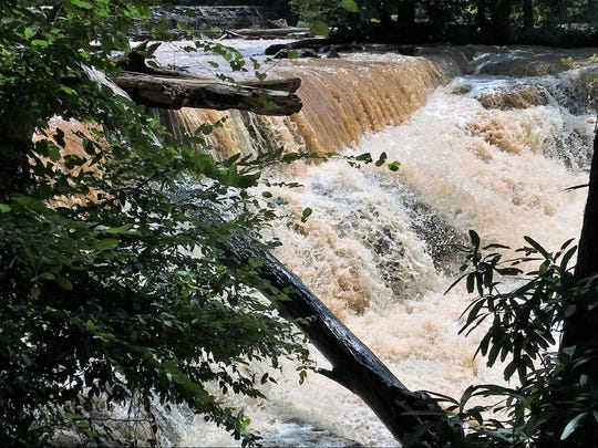 Cedar Falls on the Reedy River near the Fork Shoals community in southern Greenville County.