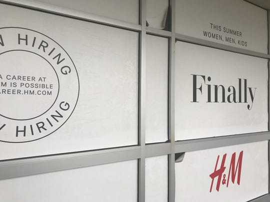 H&M opening soon at outlet mall