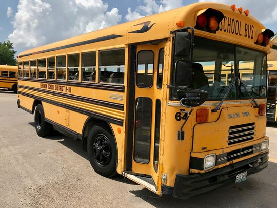 The Lebanon school district estimates it will cost $900,000 to replace the oldest buses, including this one from 1991, in its fleet.