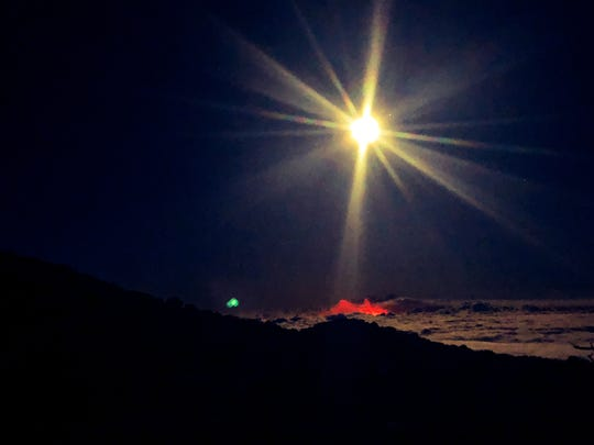 From atop Mauna Kea on Hawaii's Big Island, a full