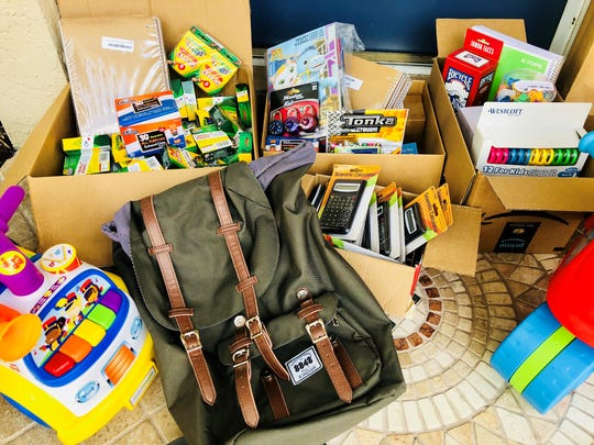 Kindleigh is one of the local groups donating backpacks and supplies to Children's Network of Southwest Florida.