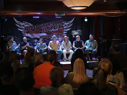 The Marshall Tucker Band participates in a question-and-answer session with fans aboard the Southern Rock Cruise in 2018.
