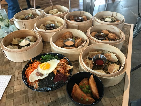 An assortment of dumplings, bao and bibimbap from Dumpling