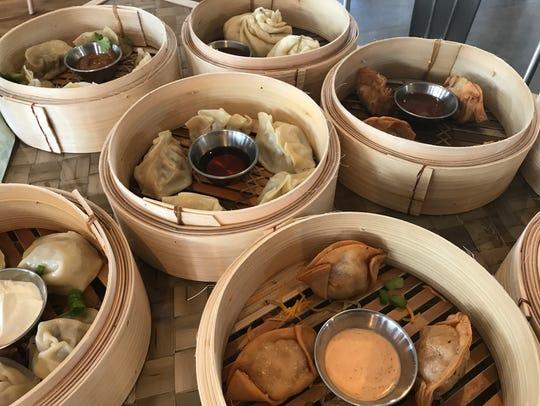 A sea of dumplings at Dumpling Darling.