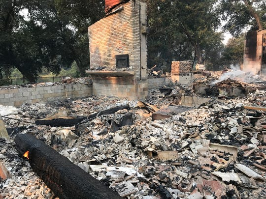 The aftermath of the Carr Fire at Lake Redding Estates on Friday morning, July 27, 2018.