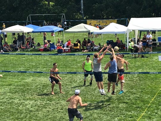 The Blue Water Volleygrass Festival took place Saturday