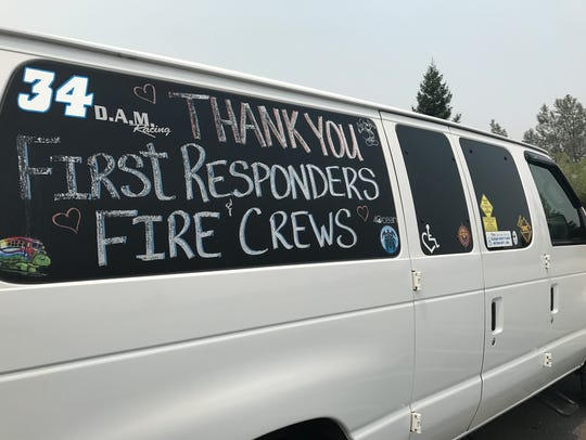 Kristin Matthews of Shasta Lake decorated her van to