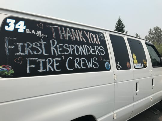 Kristin Matthews of Shasta Lake decorated her van to