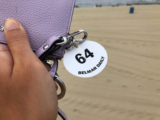 A Belmar Beach daily badge. Daily badges cost $8 at