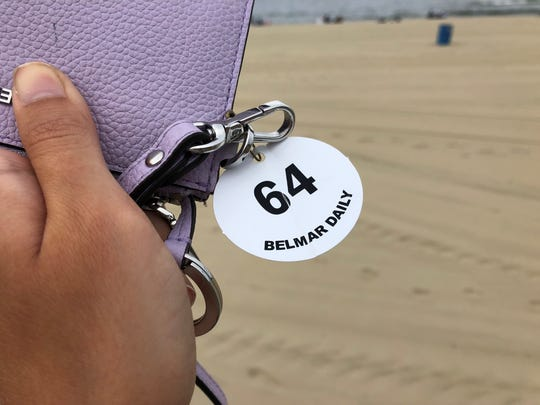 A Belmar Beach daily badge. Daily badges cost $8 at the popular beach.