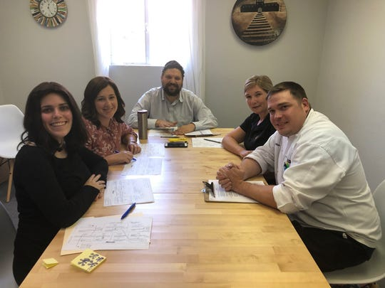 Members of ASU's University Dining team met with Chabad