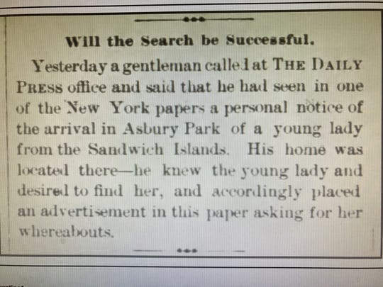 This news blurb appeared Aug. 3, 1888, in The Daily