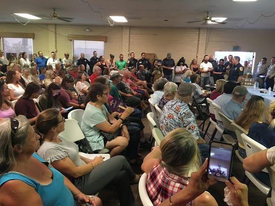 Hundreds of San Jacinto Mountains residents turned