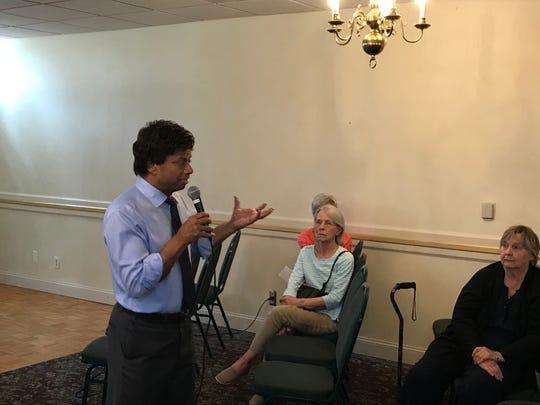 Michigan gubernatorial candidate Shri Thanedar, a Democrat, speaks July 29,2018 at Ukrainian Cultural Center in Warren.