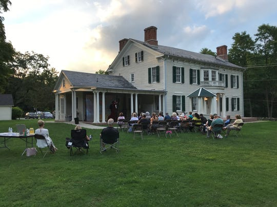 A small theater troupe performed an hour-long Shakespeare medley outdoors on the grounds of the historic Glenburn Estate in Riverdale on Aug. 1, 2018.
