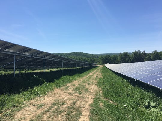 Nexamp's 7.5 megawatt solar farm installation off Millard
