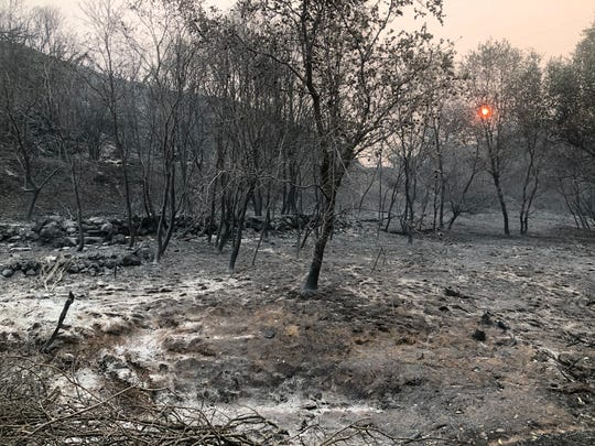 The Carr Fire left a charred landscape around the Sacramento