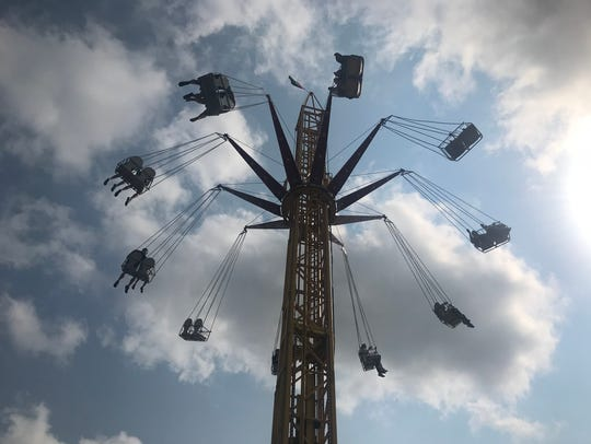 Carnival rides at the Sioux Empire Fair on Aug. 4,