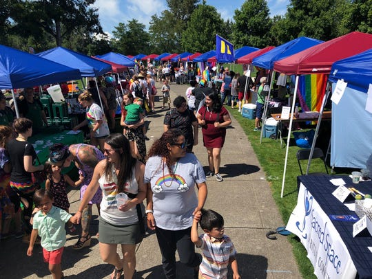 People attend Capitol Pride 2018 at Salem's Riverfront
