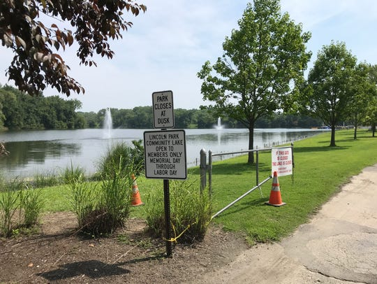 Lincoln Park Community Lake is temporarily closed for
