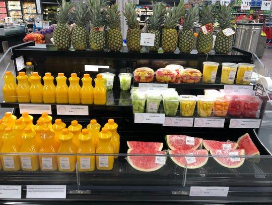 Fresh juices at Gordon Food Service Store.