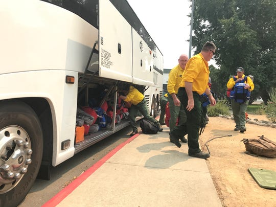 Crews from Australia and New Zealand on August 2018 arrived in Redding to help battle the Carr Fire and Mendocino Complex.