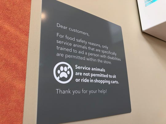 A sign at the University Commons Publix in Knoxville