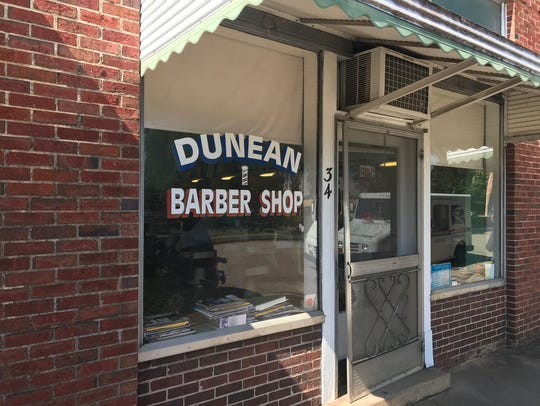 Dunean Barber Shop, the same since 1939.